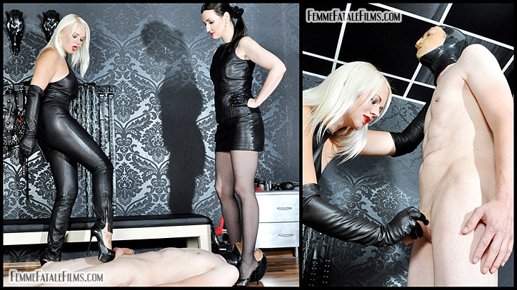 Latex femme fatales male slaves