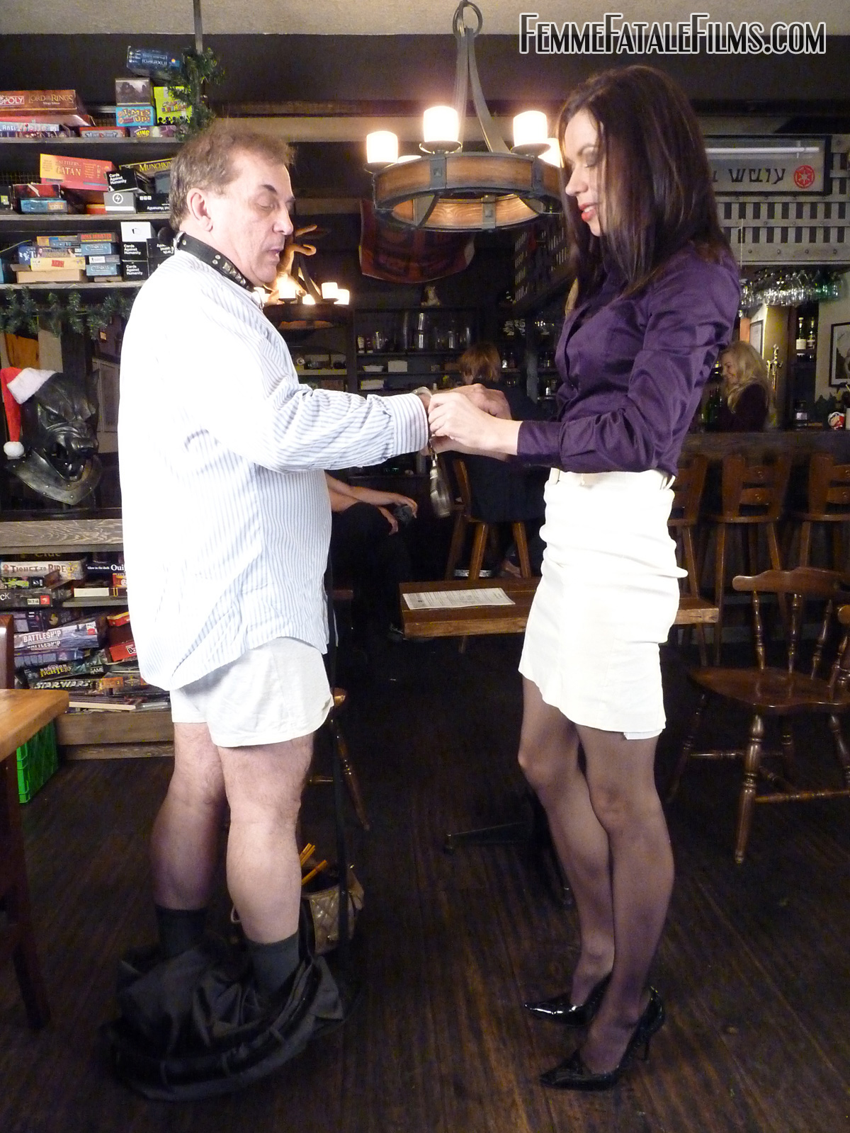 Whipped and verbally humiliated by two hot doms 8