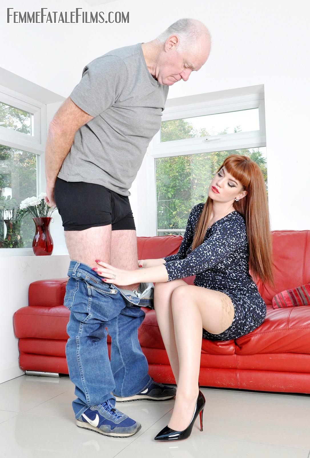 Miss Zoe prepares to administer a sound bare bottom spanking punishment