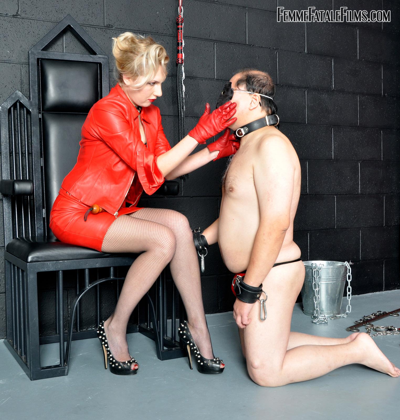 Domination feet slave training slave on a leash femdom
