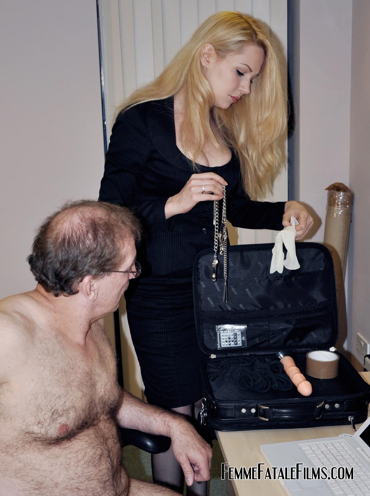 image Gagged and spanked our business is private