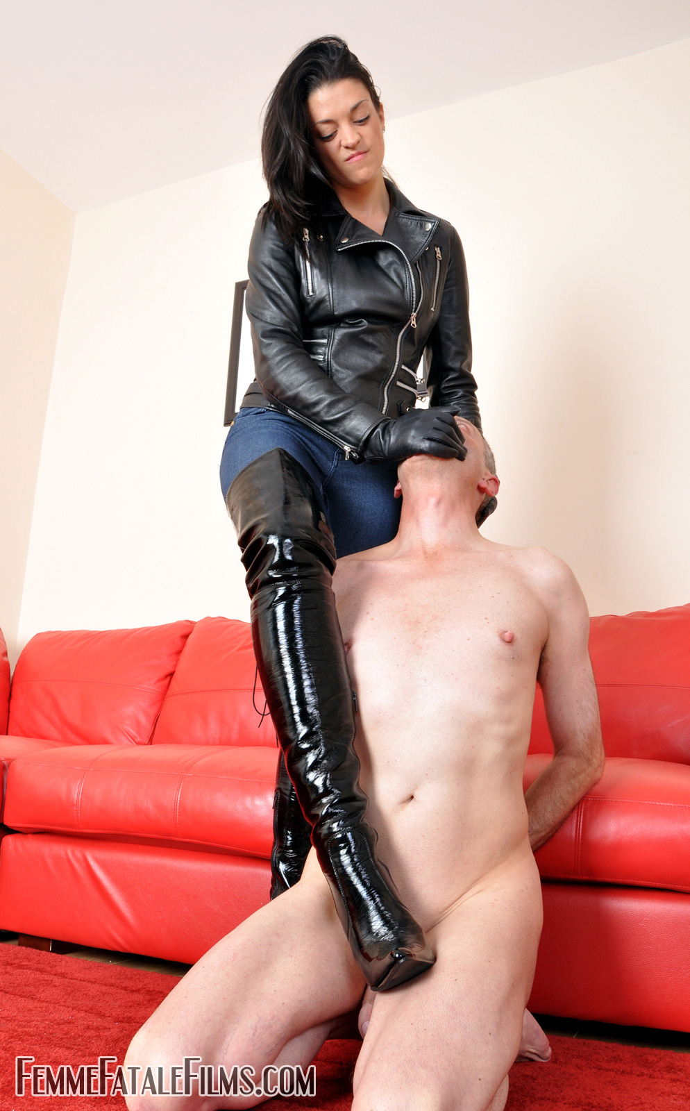 Right! Fetish leather boots