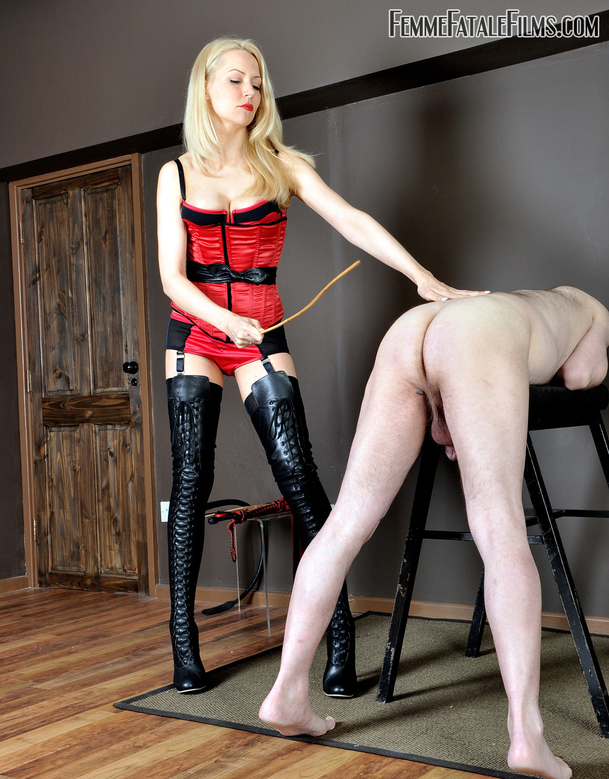 Strict Women caning