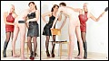 Femdom - Mind Fuck - Lady Mia Harrington and Mistress Heather- Leather- Whipping- Caning